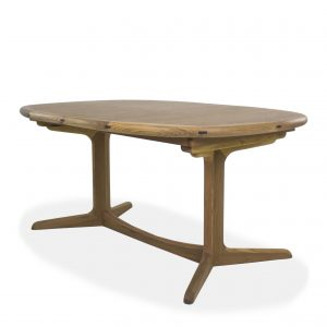 Sun Cabinet BL7 Dining Table in Teak, On Angle