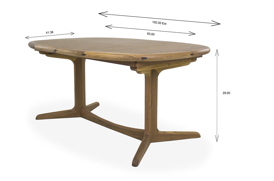 Sun Cabinet BL7 Dining Table Dimensions