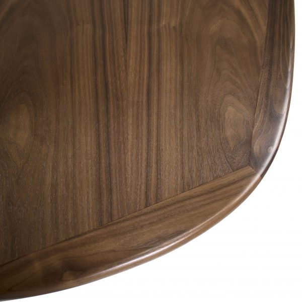 Sun Cabinet BL7 Dining Table in Walnut, Close Detail