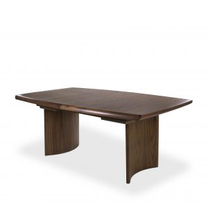 Sun Cabinet BL7 Dining Table in Walnut, Closed on Angle
