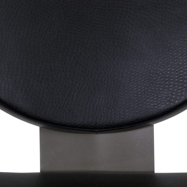 Elite Modern Bliss Dining Chair in Outback Coal, Close Up