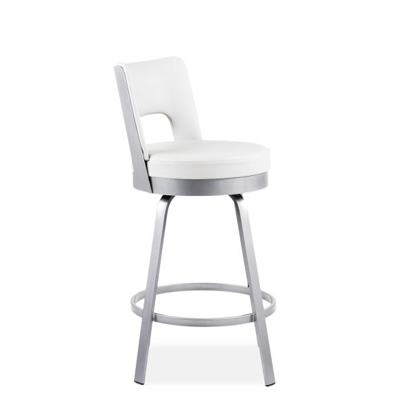 Brock Counter Stool in Parchment, Angle, 2