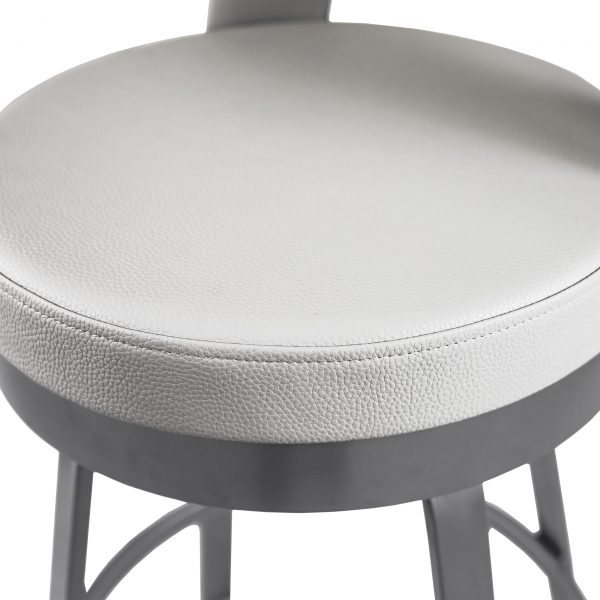 Brock Counter Stool in Parchment, Close Up