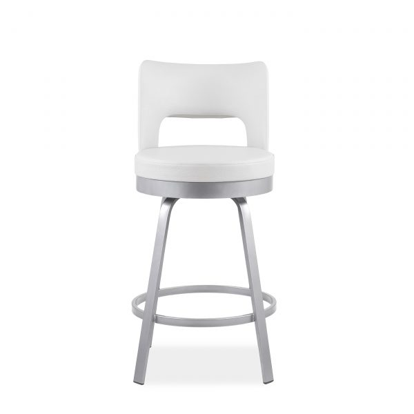 Brock Counter Stool in Parchment, Front