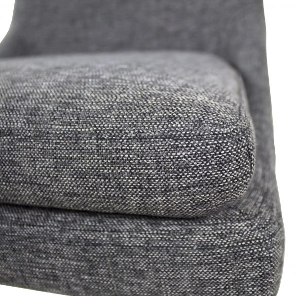 Cordova Dining Chair in Pepper C293 Fabric and Walnut, Close Up