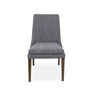 Cordova Dining Chair in Pepper C293 Fabric and Walnut, Front
