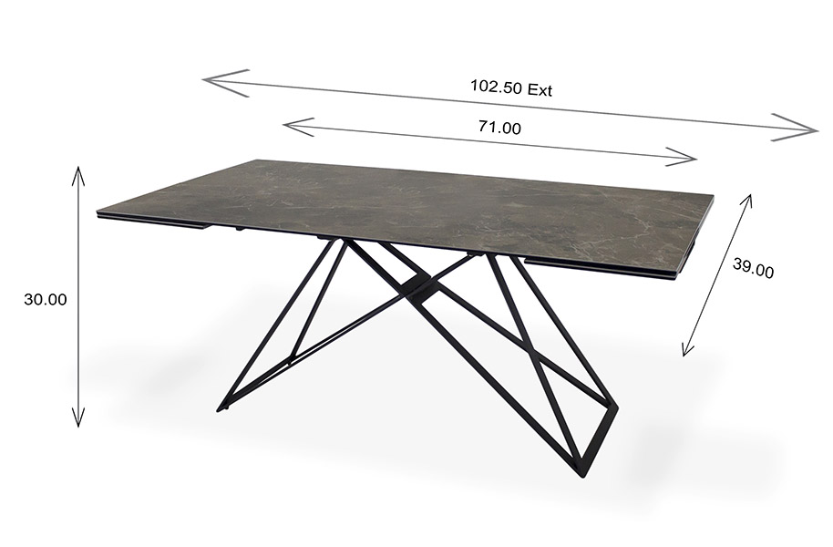 Camino Dining Table Dimensions