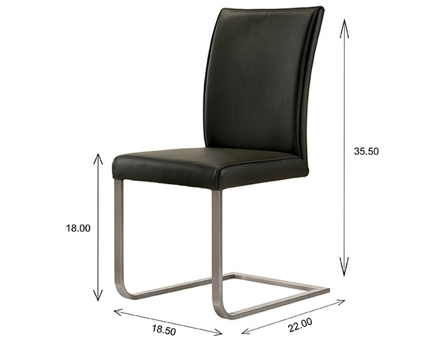 Cora Dining Chair Dimensions
