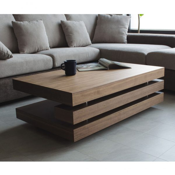 Cormac Coffee Table in Walnut in Living Room