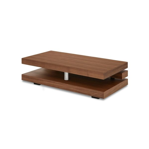 Cormac Coffee Table in Walnut, Back Angle