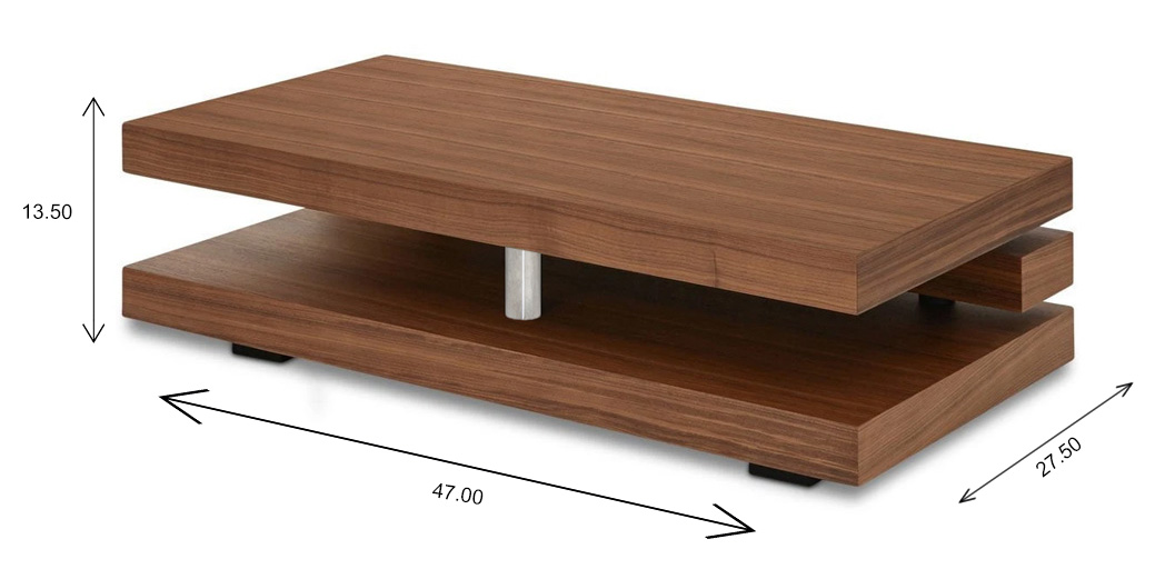 Corman Coffee Table with Dimensions