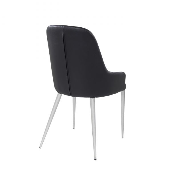 Costa Dining Chair in Black, Back