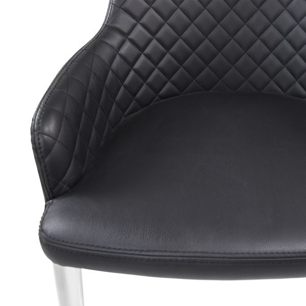 Costa Dining Chair in Black, Close Up