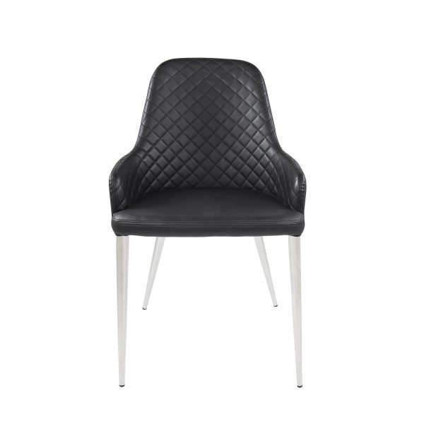 Costa Dining Chair in Black, Front