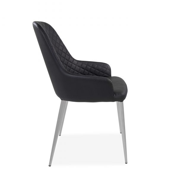 Costa Dining Chair in Black, Side