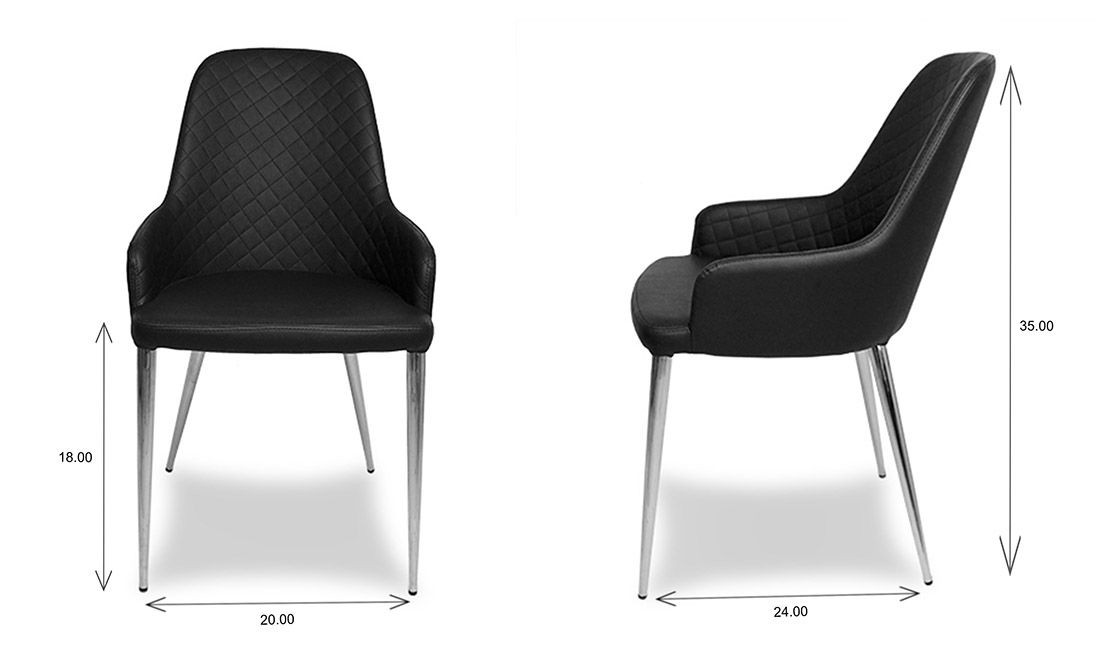 Costa Dining Chairs Dimensions
