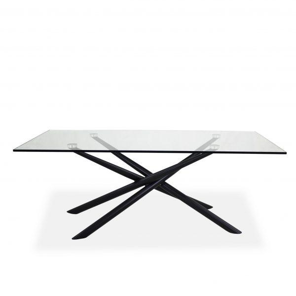 Cyrus Coffee Table , Black, Straight