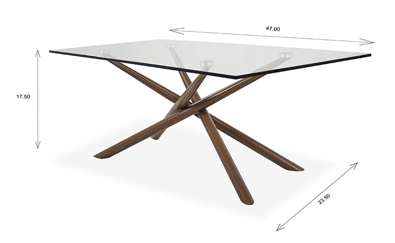 Cyrus Coffee Table with Dimensions