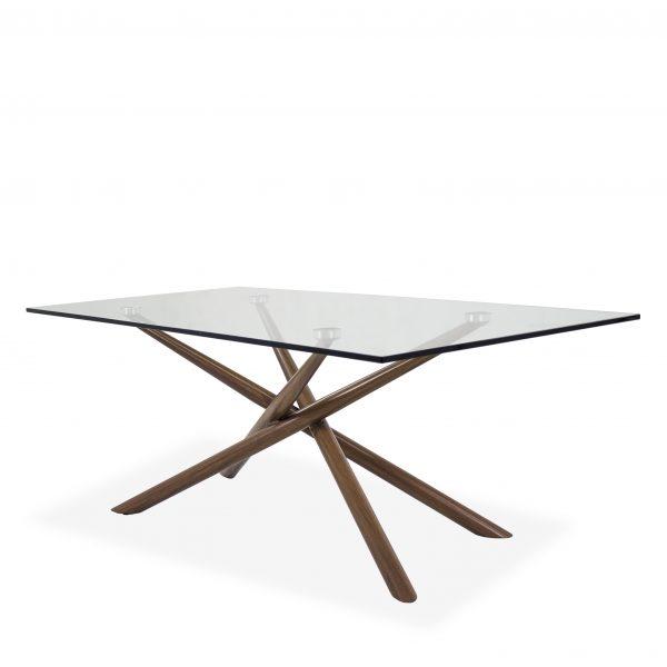 Cyrus Coffee Table , Walnut, Angle