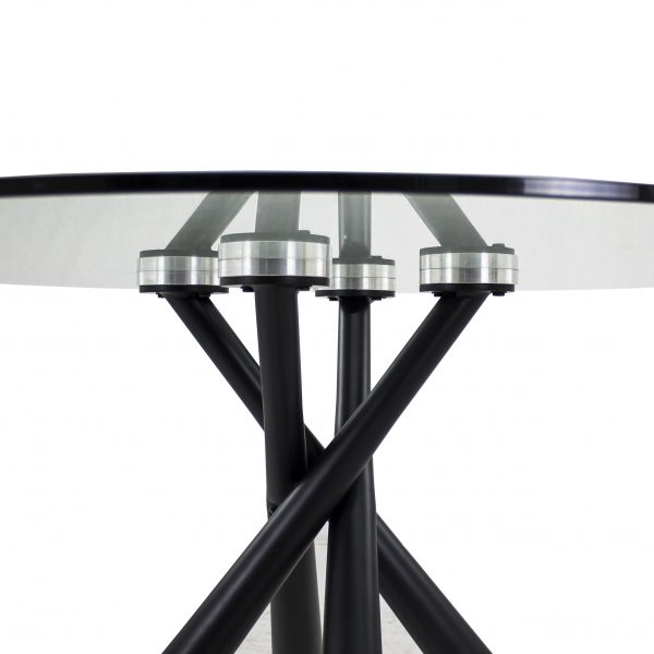Cyrus Dining Table, Black, Detail