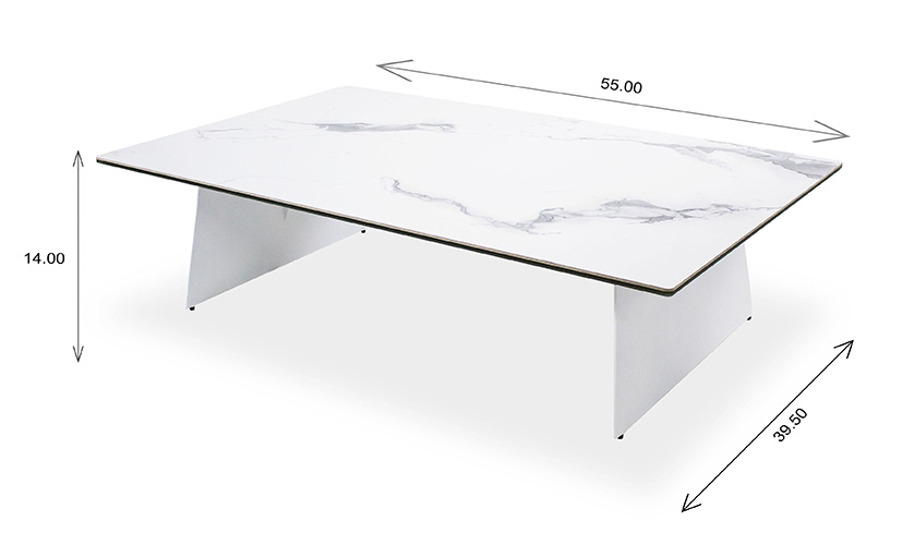 Dalia Coffee Table with Dimensions