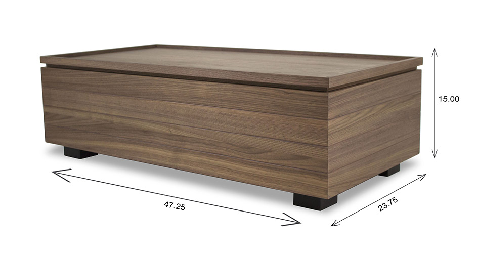 Dallas Coffee Table and Dimensions
