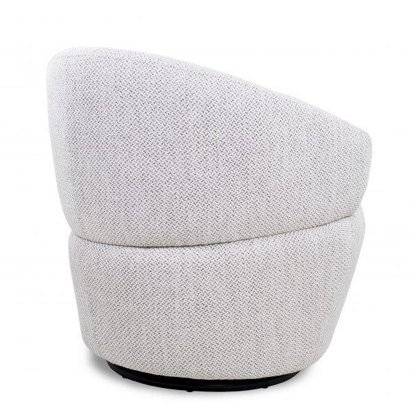 Dance Swivel Chair in Beige Fabric, Back
