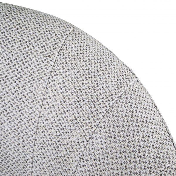 Dance Swivel Chair in Beige Fabric, Close Up