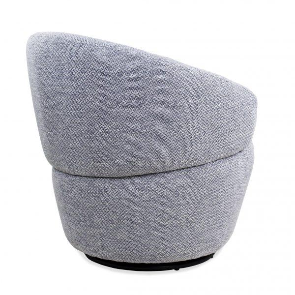 Dance Swivel Chair in Grey Fabric, Back
