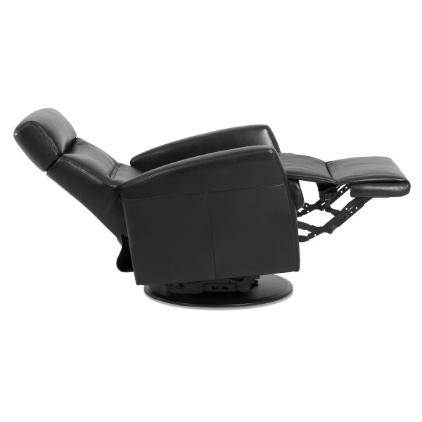 IMG Divani Recliner in Trend Tuxedo, Side Profile, Reclined
