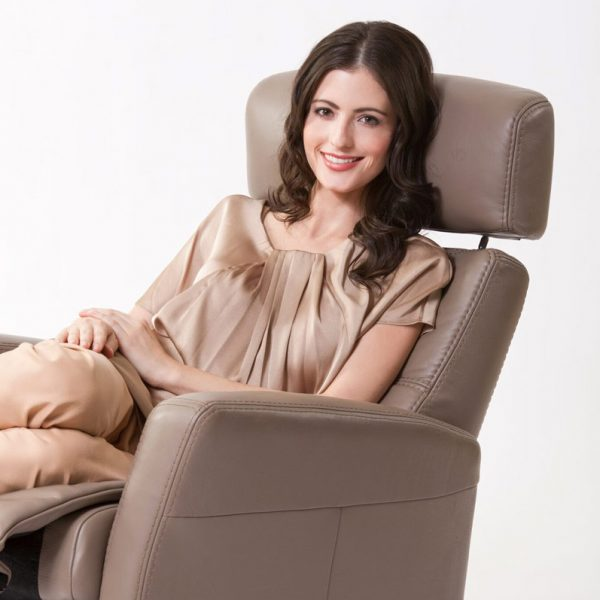 IMG Divani Recliner with Lady Smiling