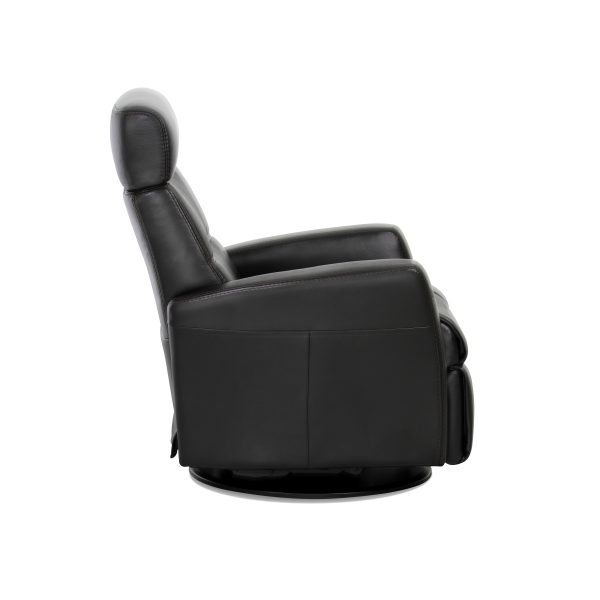 IMG Divani Recliner in Trend Tuxedo, Side Profile