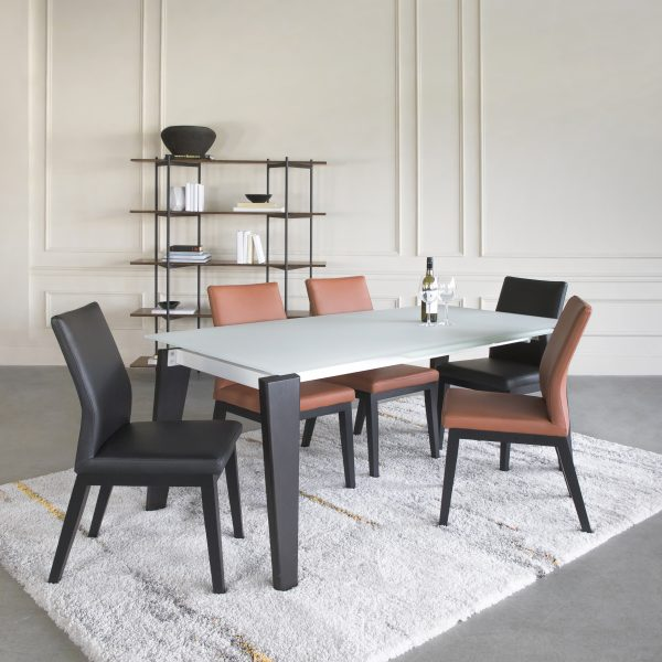 Dover Dining Table with Wenge Legs and Lena Dining Chairs