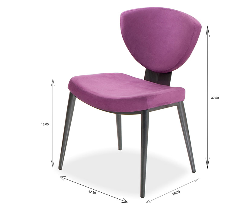 Elite Modern Bliss Dining Chair Dimensions