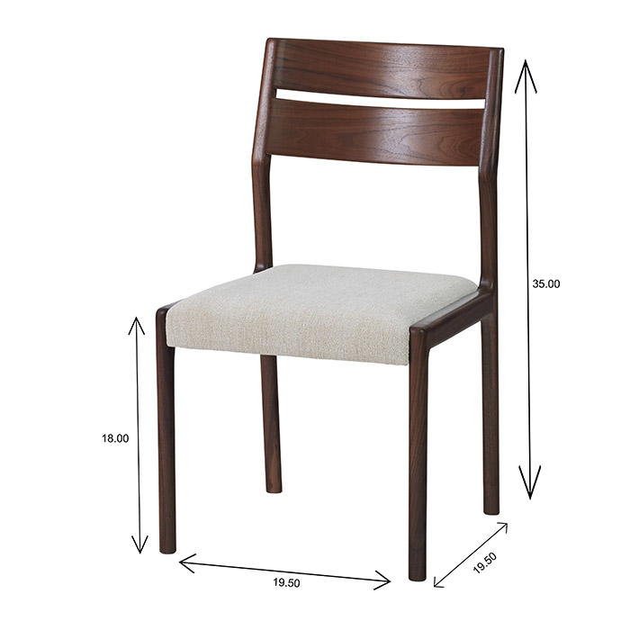 Sun Cabinet FS17 Dining Chair Dimensions