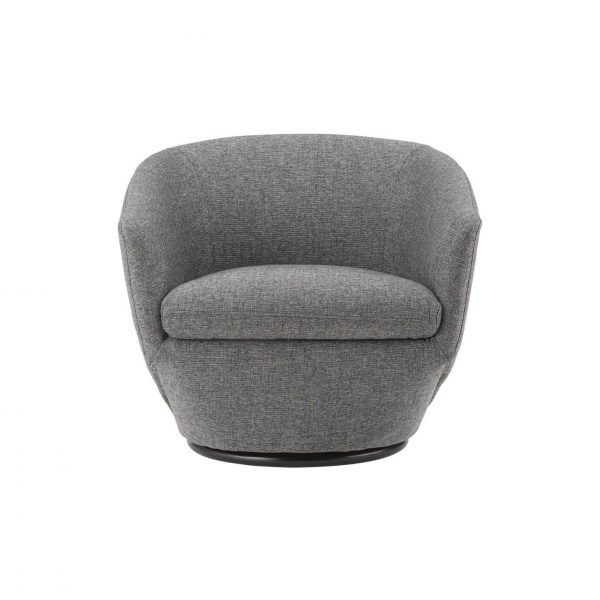 Geneva Chair in Light Grey Fabric, Front