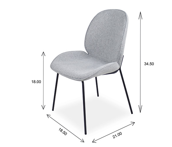 Hella Dining Chair Dimensions