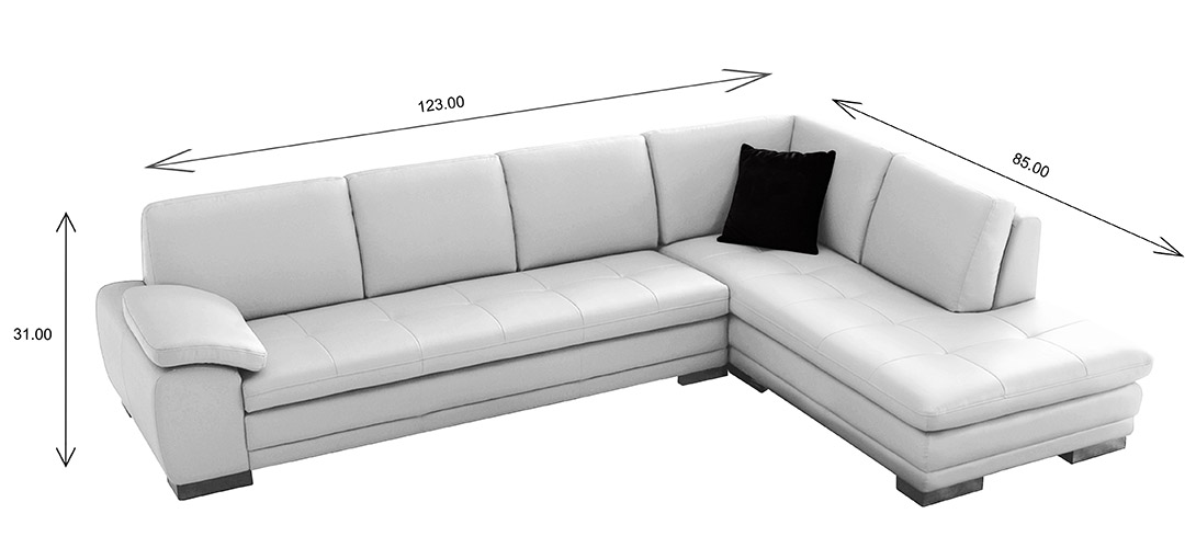Hilo Sectional Dimensions