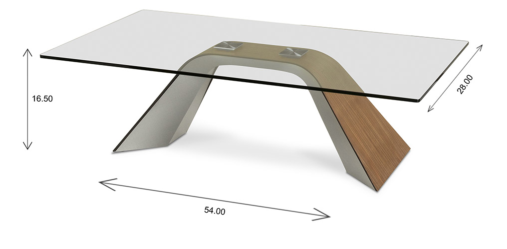 Hyper Coffee Table with Dimensions