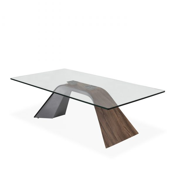 Hyper Coffee Table in Walnut, Angle