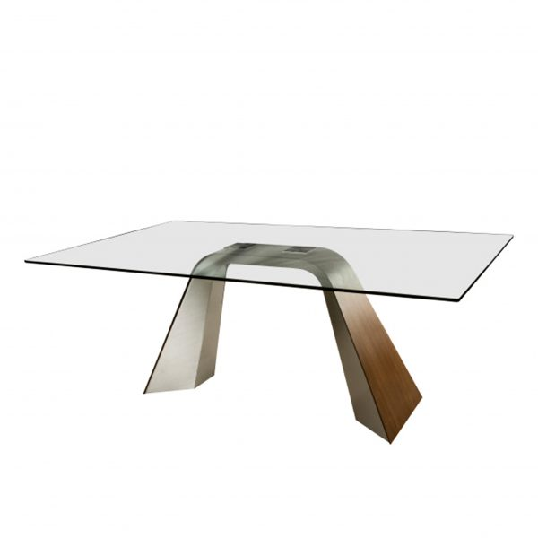 Elite Modern Hyper Dining Table, Angle