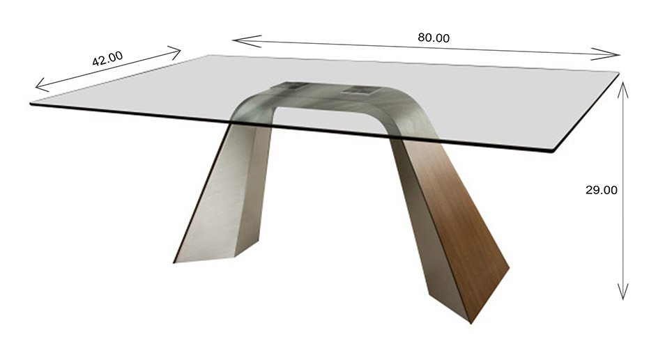 Elite Modern Hyper Dining Table Dimensions