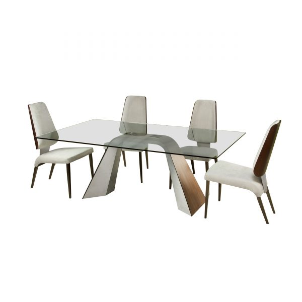 Elite Modern Hyper Dining Table with Chairs