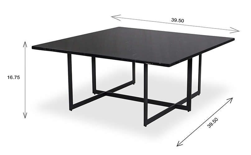 Leila Coffee Table with Dimensions