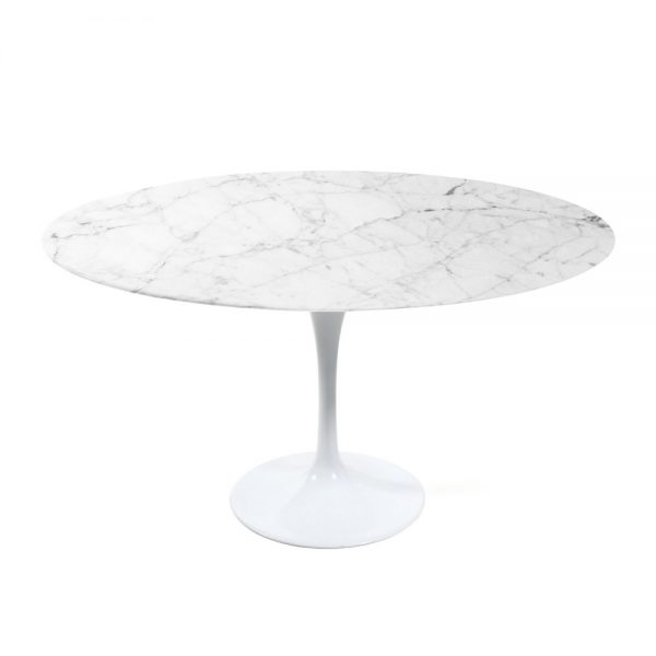 Lexi Dining Table, White Marble Top