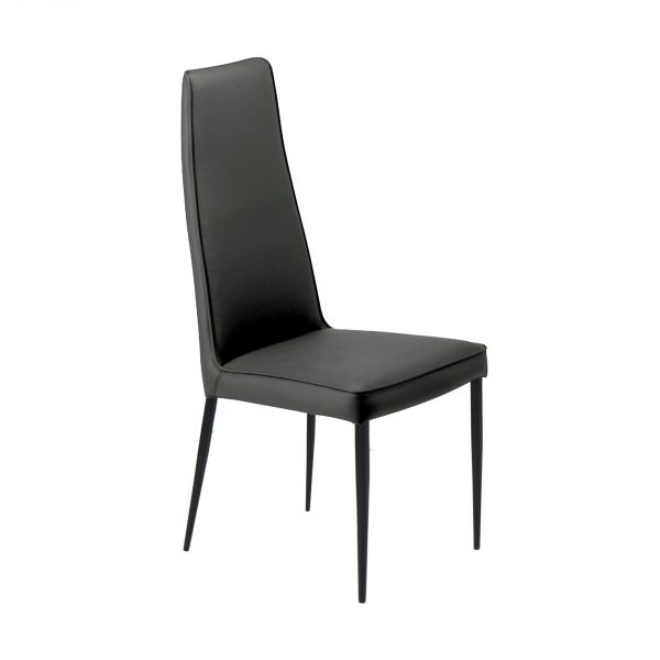 Mara Dining Chair in Grey, Angle