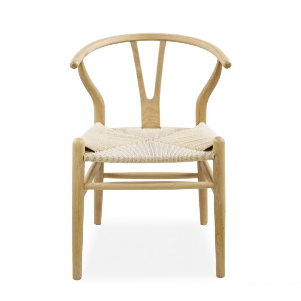 Mia Dining Chair in Natural, Front
