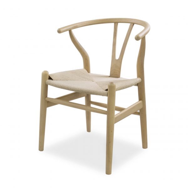 Mia Dining Chair in Natural, Angle