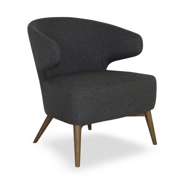 Mission Chair Dark Grey Fabric