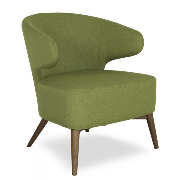 Mission Chair Green Fabric